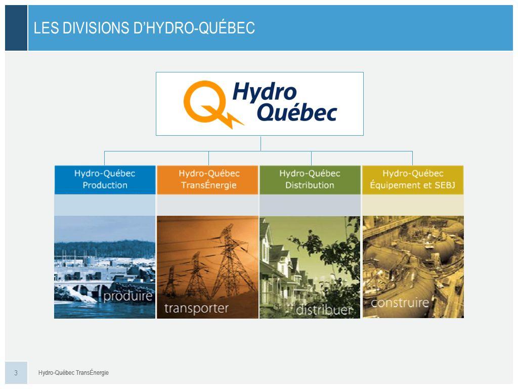 LES EFFECTIFS DHYDRO-QUÉBEC TRANSÉNERGIE AU 31 DÉC. 2012 4