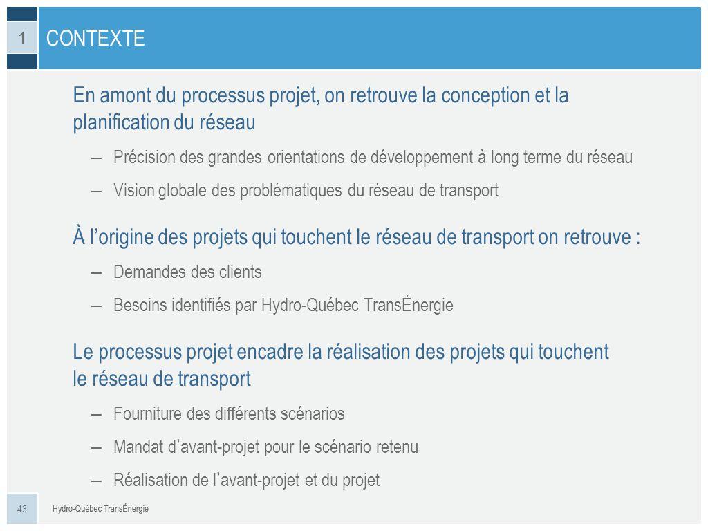 En amont du processus projet, on retrouve la conception et la planification du réseau – Précision des grandes orientations de développement à long ter