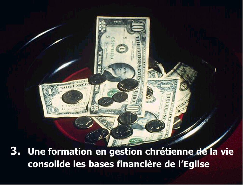 2. Une formation en gestion chrétienne de la vie aide une Eglise à croître spirituellement