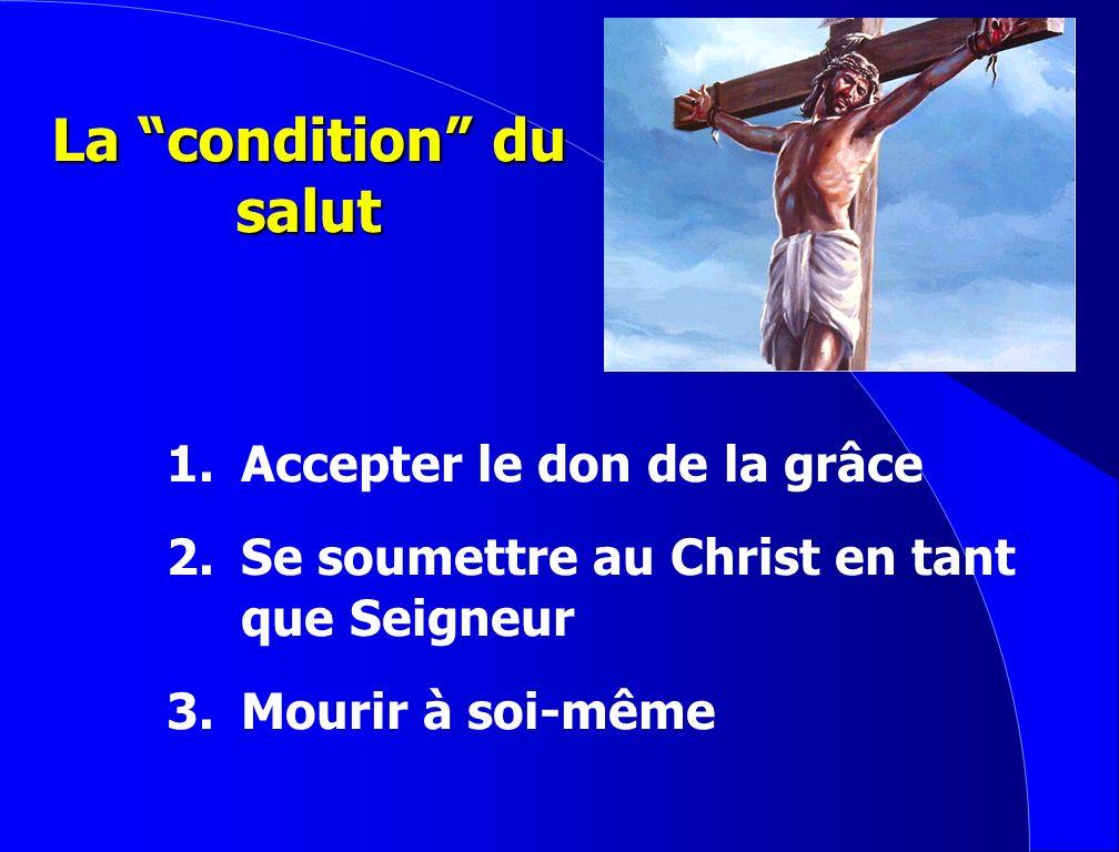 Lacte du salut 1. Le Christ meurt sur le Calvaire. 2. Dieu donne son fils.