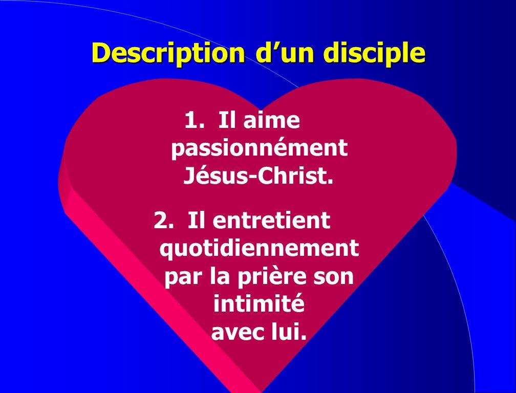 Définition dun disciple : Un disciple est celui qui marche avec, apprend et est soumis à un maître pour devenir comme lui.