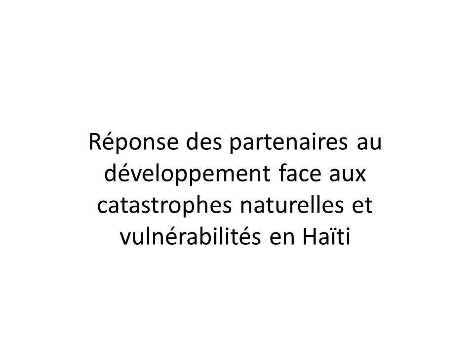 Réponse des partenaires au développement face aux catastrophes naturelles et vulnérabilités en Haïti