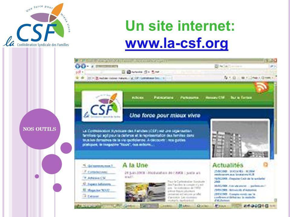 Un site internet: www.la-csf.org