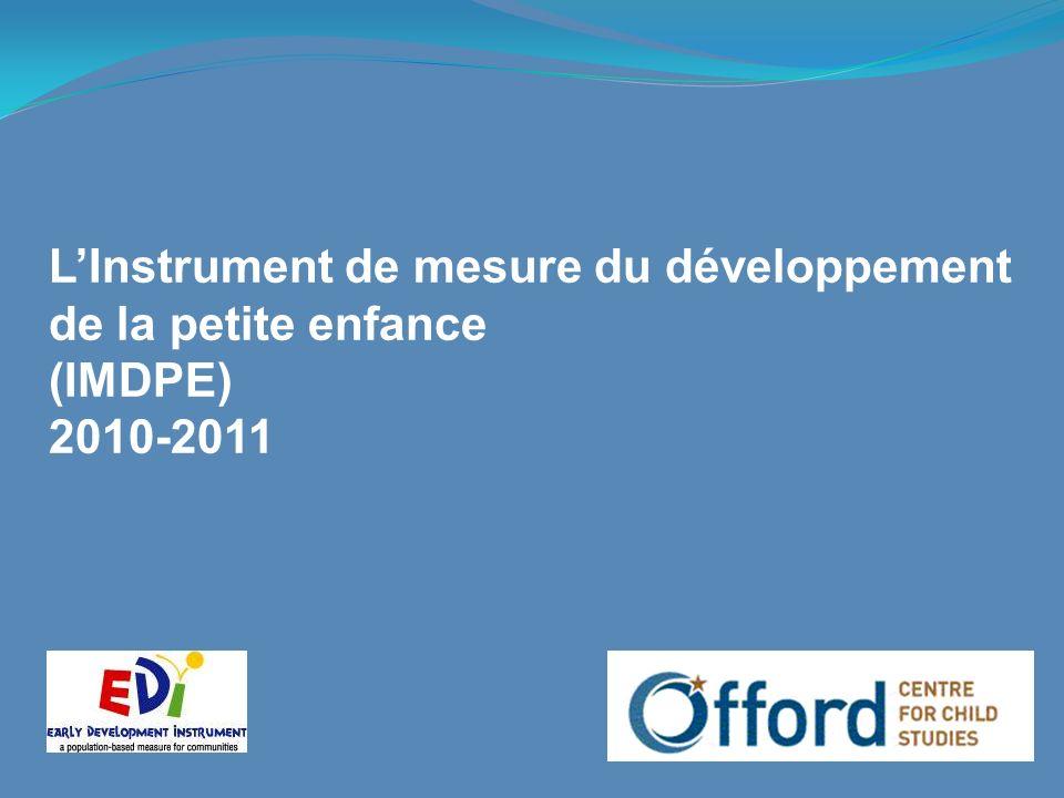 LInstrument de mesure du développement de la petite enfance (IMDPE) 2010-2011