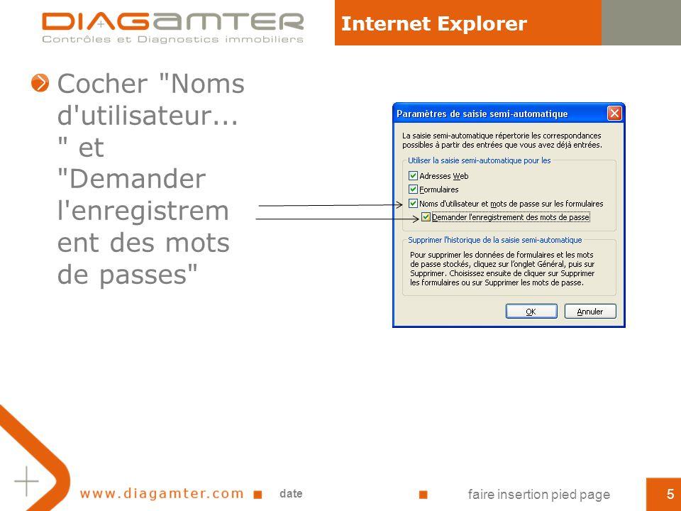 Cocher Noms d utilisateur...