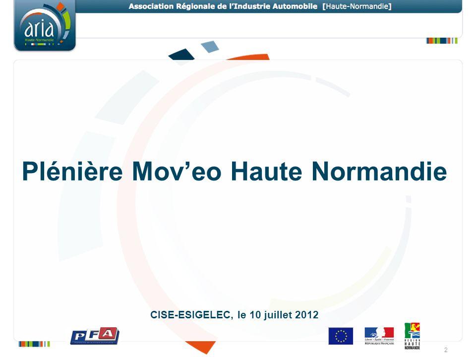 Plénière Moveo Haute Normandie CISE-ESIGELEC, le 10 juillet 2012 2