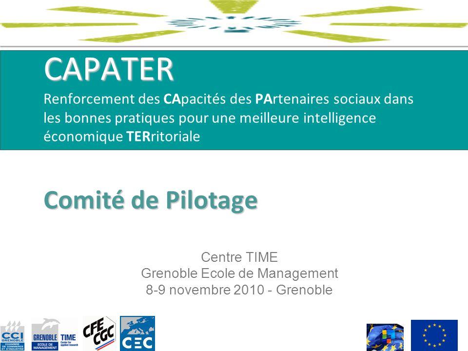 CAPATER Comité de Pilotage CAPATER Renforcement des CApacités des PArtenaires sociaux dans les bonnes pratiques pour une meilleure intelligence économ