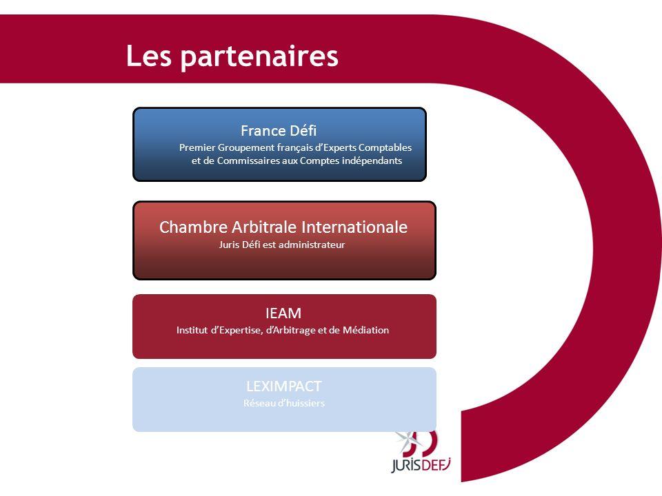 Les partenaires France Défi Premier Groupement français dExperts Comptables et de Commissaires aux Comptes indépendants Chambre Arbitrale Internationa