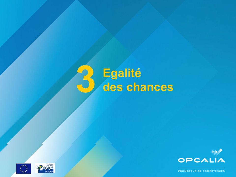 Enquête conjoncture 2010 Questionnaire 3 Egalité des chances