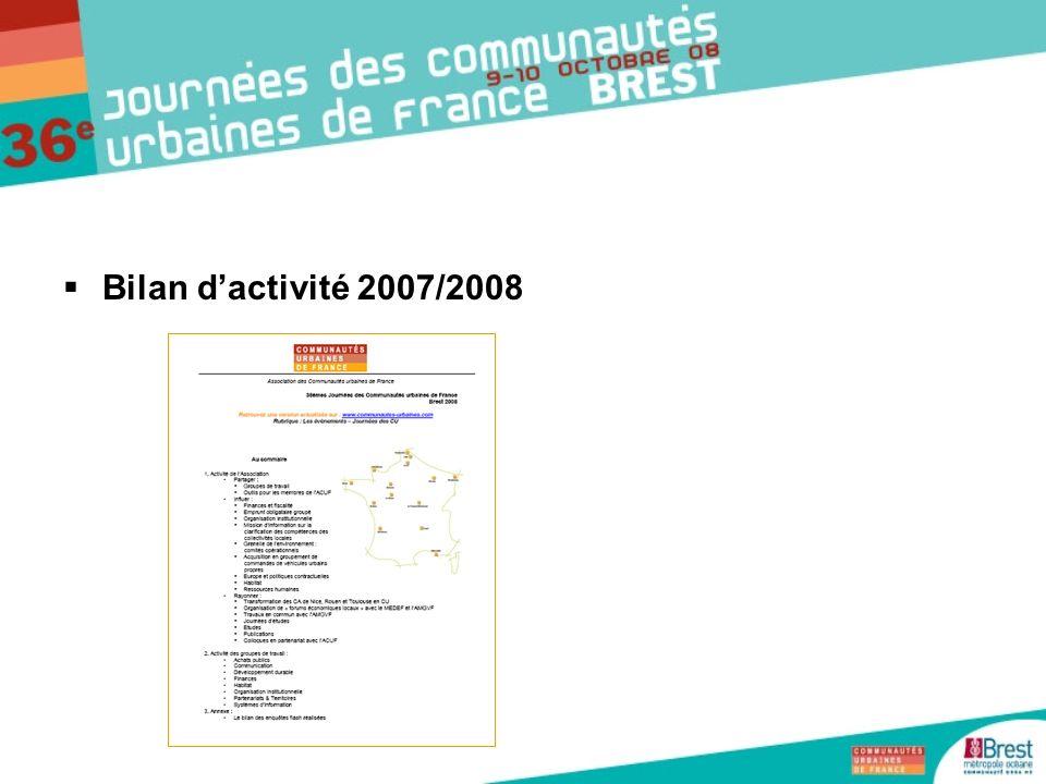 Bilan dactivité 2007/2008
