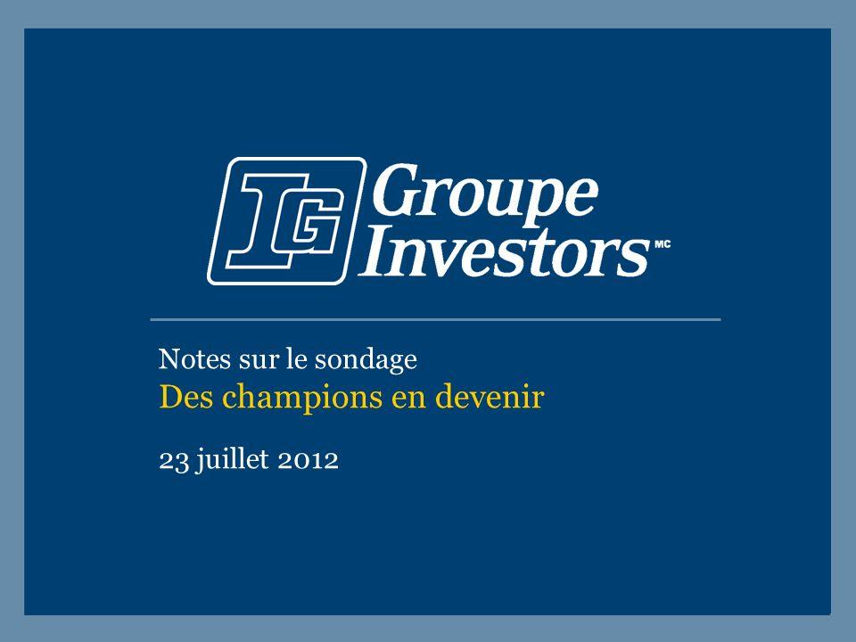 Notes sur le sondage Des champions en devenir 23 juillet 2012