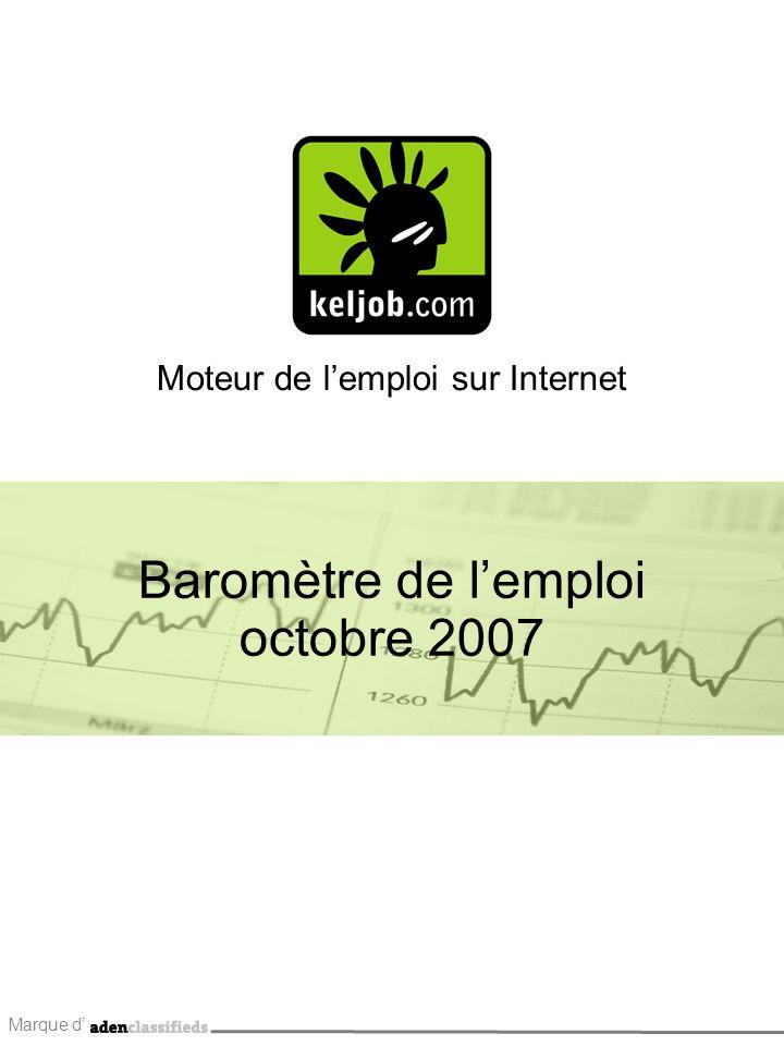 Marque d Moteur de lemploi sur Internet Baromètre de lemploi octobre 2007