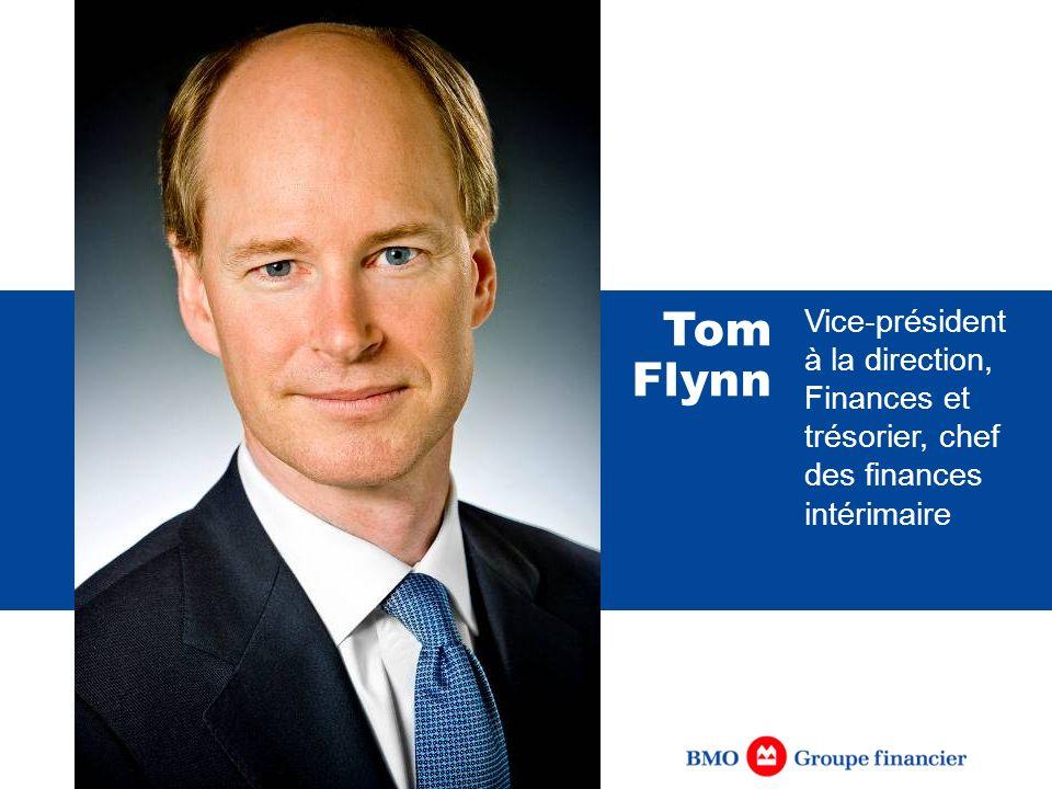 Vice-président à la direction, Finances et trésorier, chef des finances intérimaire Tom Flynn