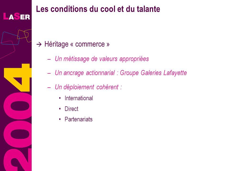 12 Les conditions du cool et du talante Héritage « commerce » – Un métissage de valeurs appropriées – Un ancrage actionnarial : Groupe Galeries Lafaye