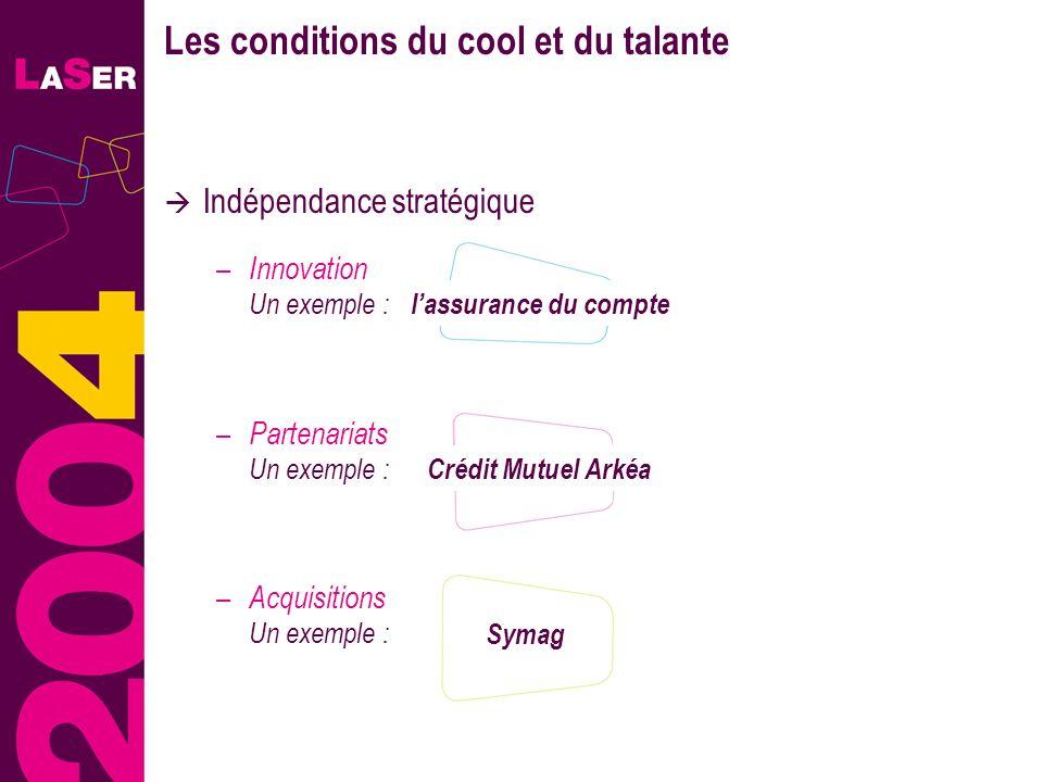 13 Les conditions du cool et du talante Indépendance stratégique – Innovation Un exemple : lassurance du compte Crédit Mutuel Arkéa – Partenariats Un