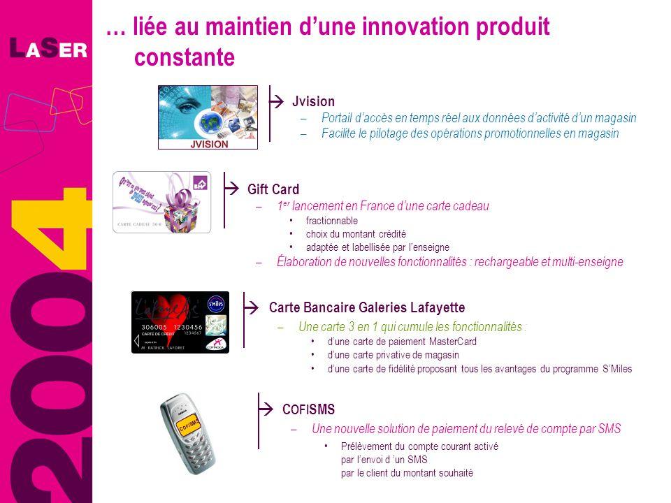 … liée au maintien dune innovation produit constante Jvision – Portail daccès en temps réel aux données dactivité dun magasin – Facilite le pilotage d