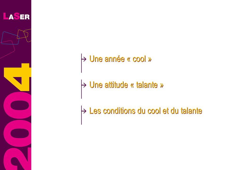 Une année « cool » Une attitude « talante » Les conditions du cool et du talante