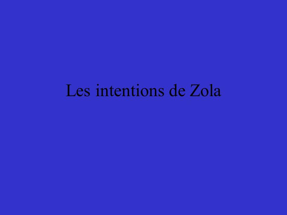 Les intentions de Zola