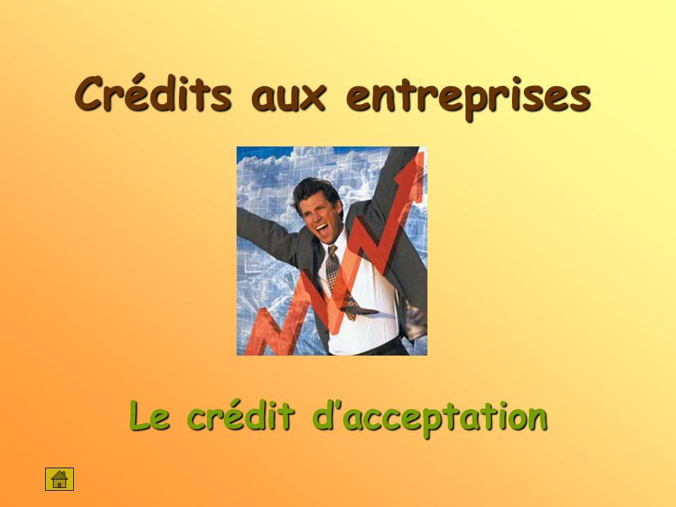Crédits aux entreprises Le crédit dacceptation