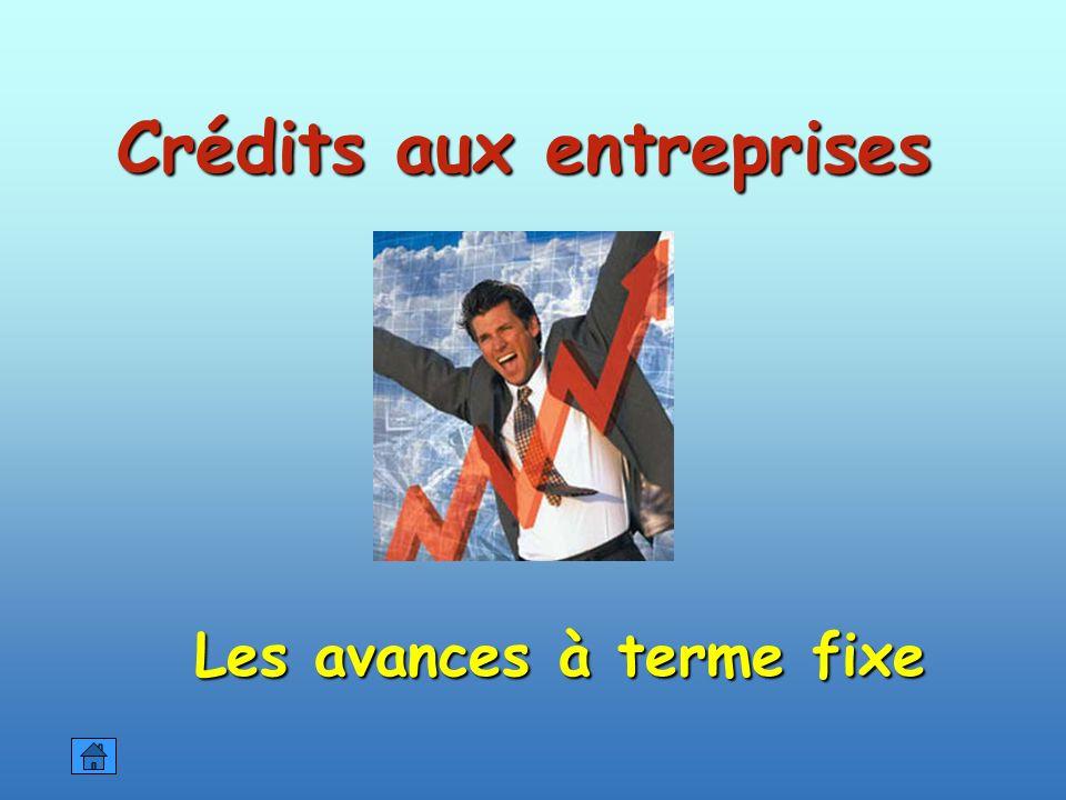 Crédits aux entreprises Les avances à terme fixe