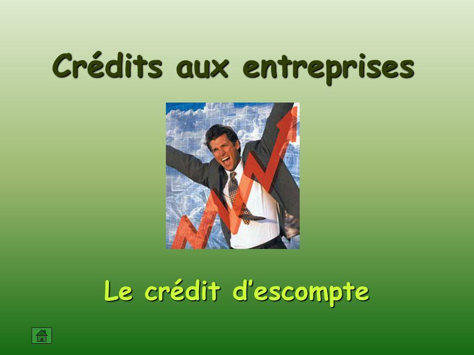 Le crédit descompte Crédits aux entreprises