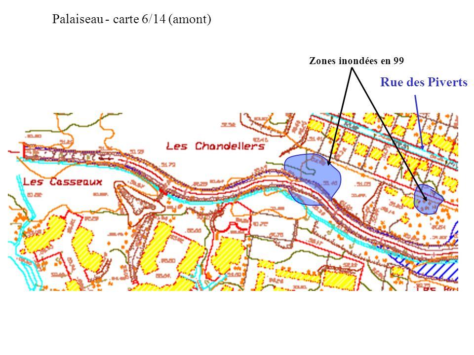 Zones inondées en 99 Palaiseau - carte 6/14 (amont) Rue des Piverts