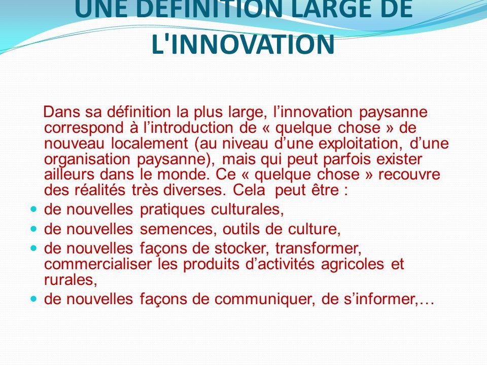 LE CHOIX DES INNOVATIONS EST CONFIÉ AUX OP Sélection dinnovations dans trois pays sahéliens, le Mali, le Burkina Faso et le Niger Dans chacun des trois pays concernés, les organisations paysannes faîtières associées à la foire (l AOPP pour le Mali, la FENOP pour le Burkina Faso et Mooriben pour le Niger) ont sélectionné quatre innovations.