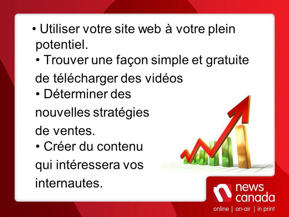 Utiliser votre site web à votre plein potentiel. Trouver une façon simple et gratuite de télécharger des vidéos Déterminer des nouvelles stratégies de