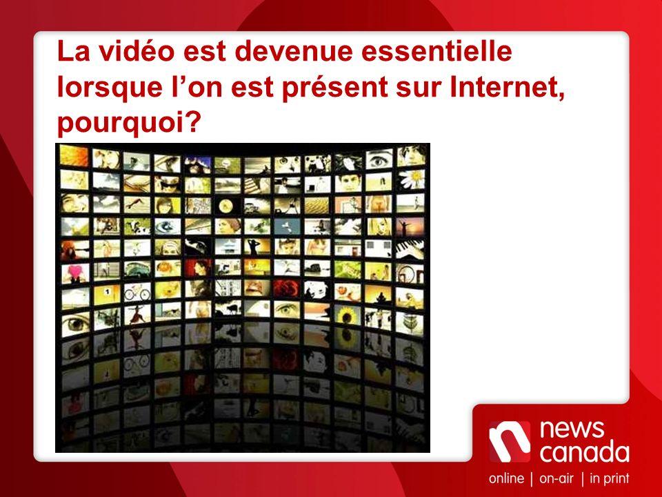 La vidéo est devenue essentielle lorsque lon est présent sur Internet, pourquoi?