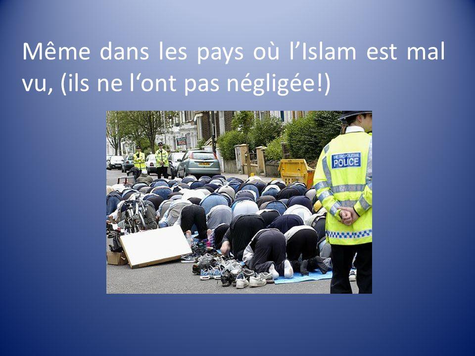 Même dans les pays où lIslam est mal vu, (ils ne lont pas négligée!)