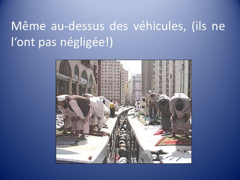 Même au-dessus des véhicules, (ils ne lont pas négligée!)