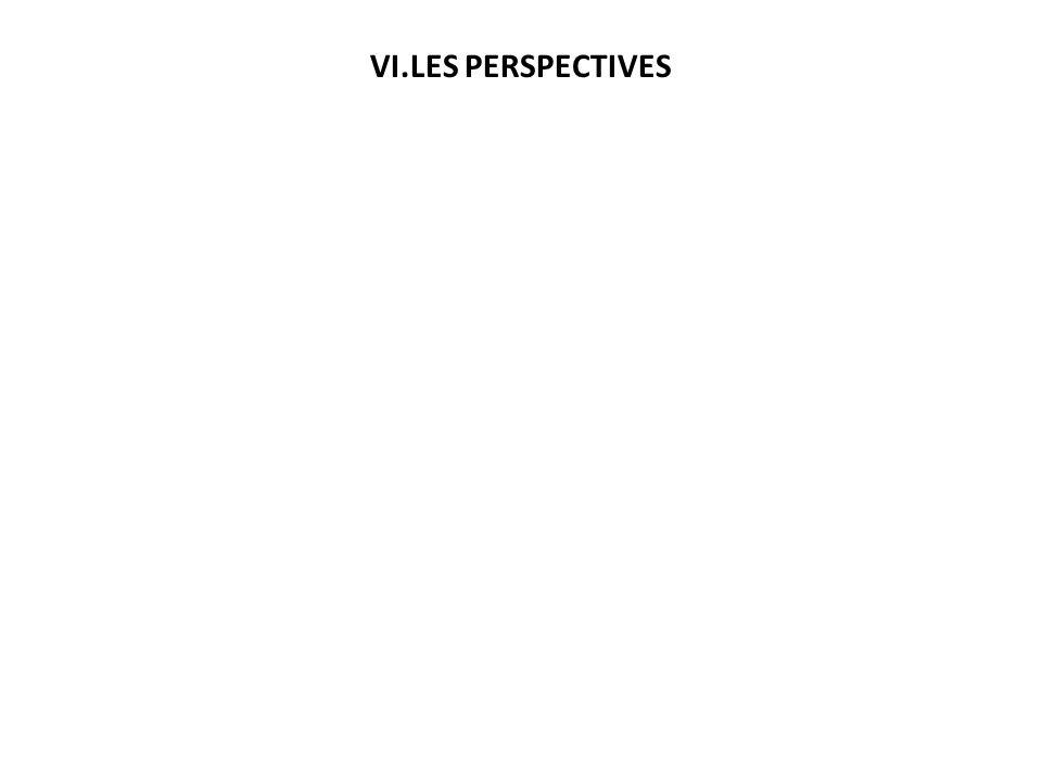 VI.LES PERSPECTIVES Réaliser une enquête de prévalence du VIH post-crise Faire une enquête de prévalence chez les femmes enceintes (2014) Faire une en