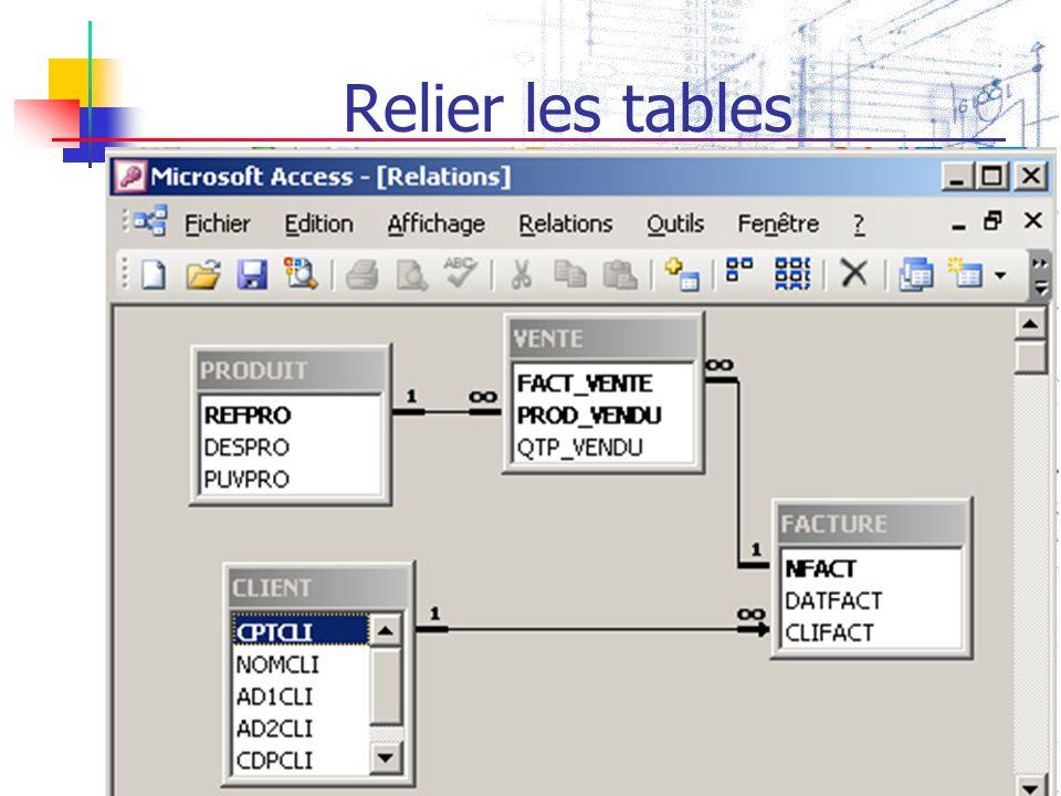GSIS.Q.L.Cayenne Relier les tables