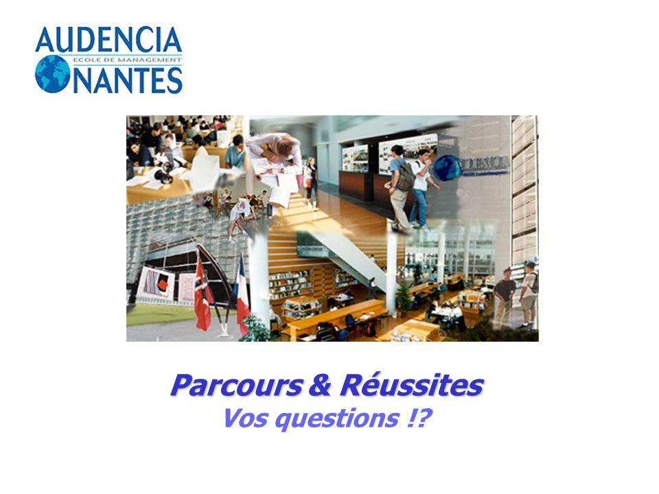 Parcours & Réussites Vos questions !?