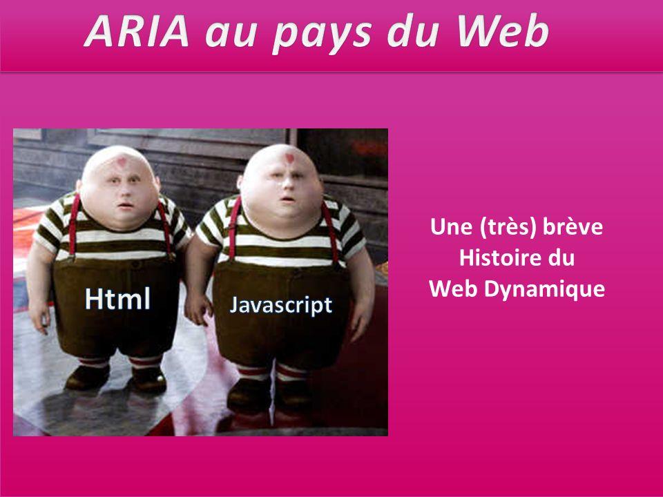 Une (très) brève Histoire du Web Dynamique