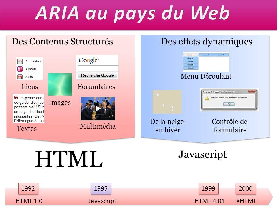 Problème pour lutilisateur Navigation Clavier HTML Limitée à Le lien Les éléments de formulaire Lélément object Navigation Clavier Javascript Je peuxJe peux pas