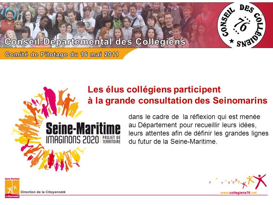 Les élus collégiens participent à la grande consultation des Seinomarins dans le cadre de la réflexion qui est menée au Département pour recueillir le