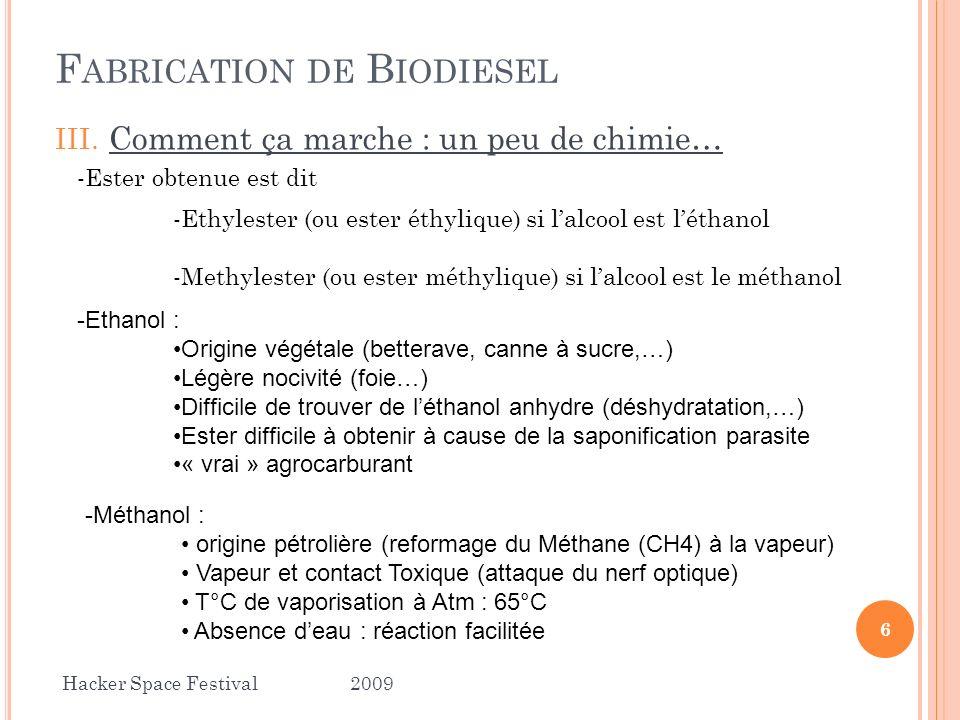 X.Le Biodiesel est il vraiment Bio . 2.