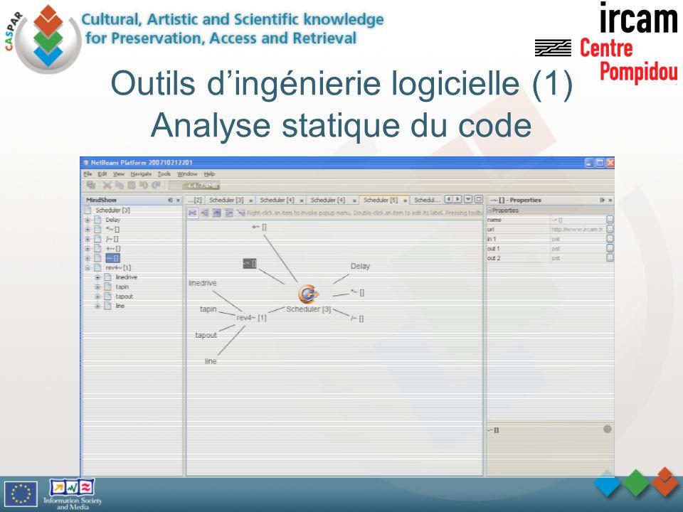 Outils dingénierie logicielle (1) Analyse statique du code