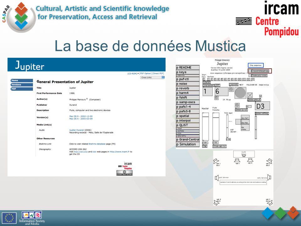 La base de données Mustica