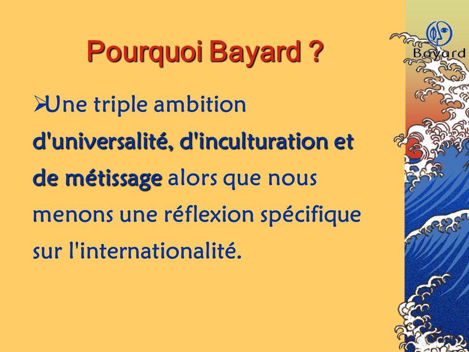 Pourquoi Bayard ? Une triple ambition d'universalité, d'inculturation et de métissage métissage alors que nous menons une réflexion spécifique sur l'i