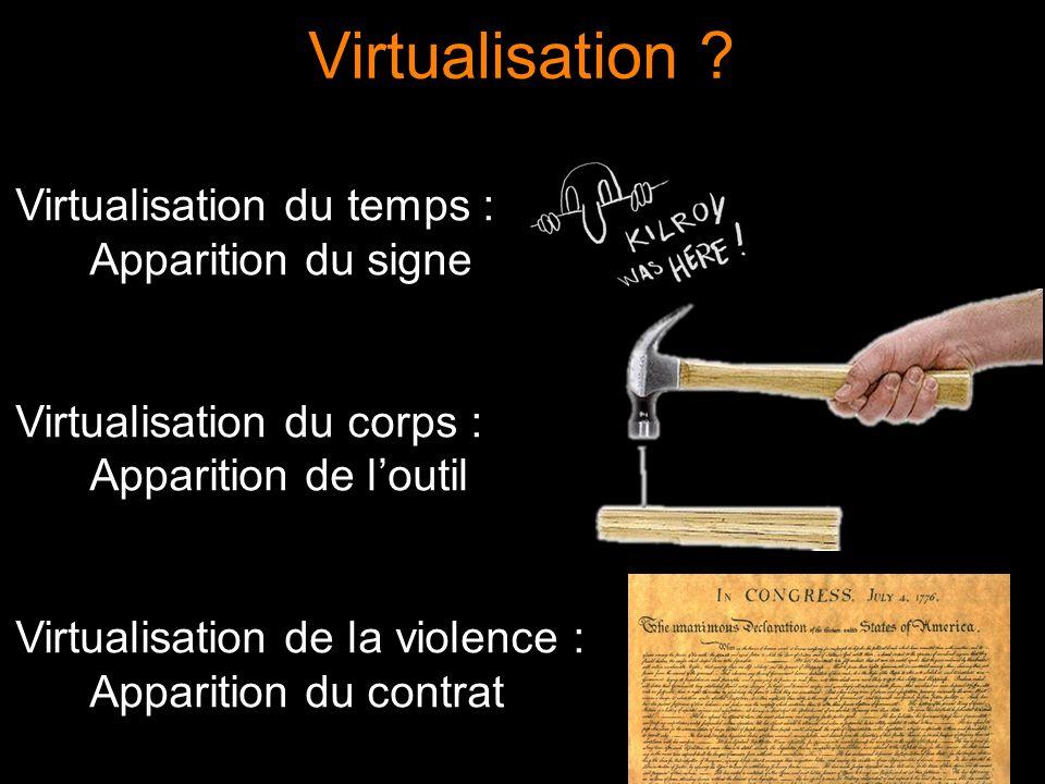 La poursuite du processus dhominisation peut être repéré dans le mouvement contemporain vers le virtuel...