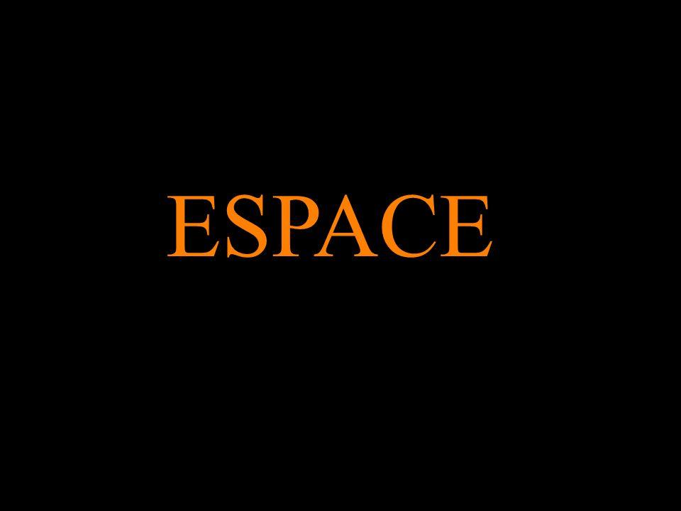 1)En un premier sens, non philosophique, l espace est synonyme de lieu ou demplacement, voire dinterstice ou dintervalle, déterminé et limité soit matériellement - par des cloisons, soit mentalement - par des repères.