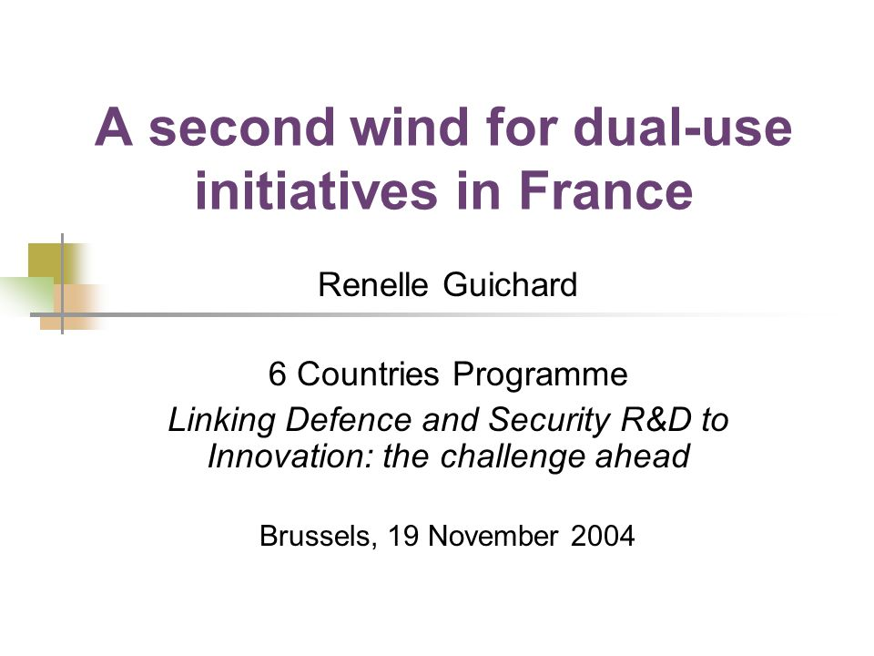 Defence R&D budgets in France: 1980-2000 Source: ECODEF, Mars 2003, N°26 (Bulletin of the Ministry of Defence)