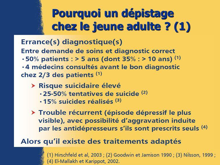 Pourquoi un dépistage chez le jeune adulte ? (2)