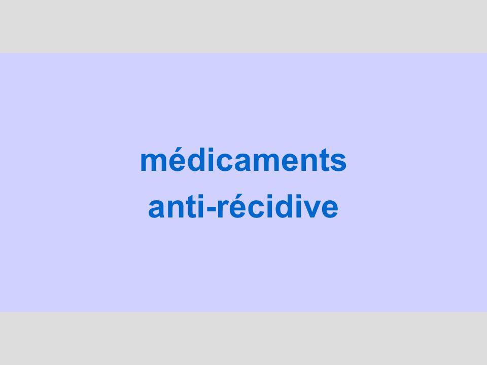 médicaments anti-récidive