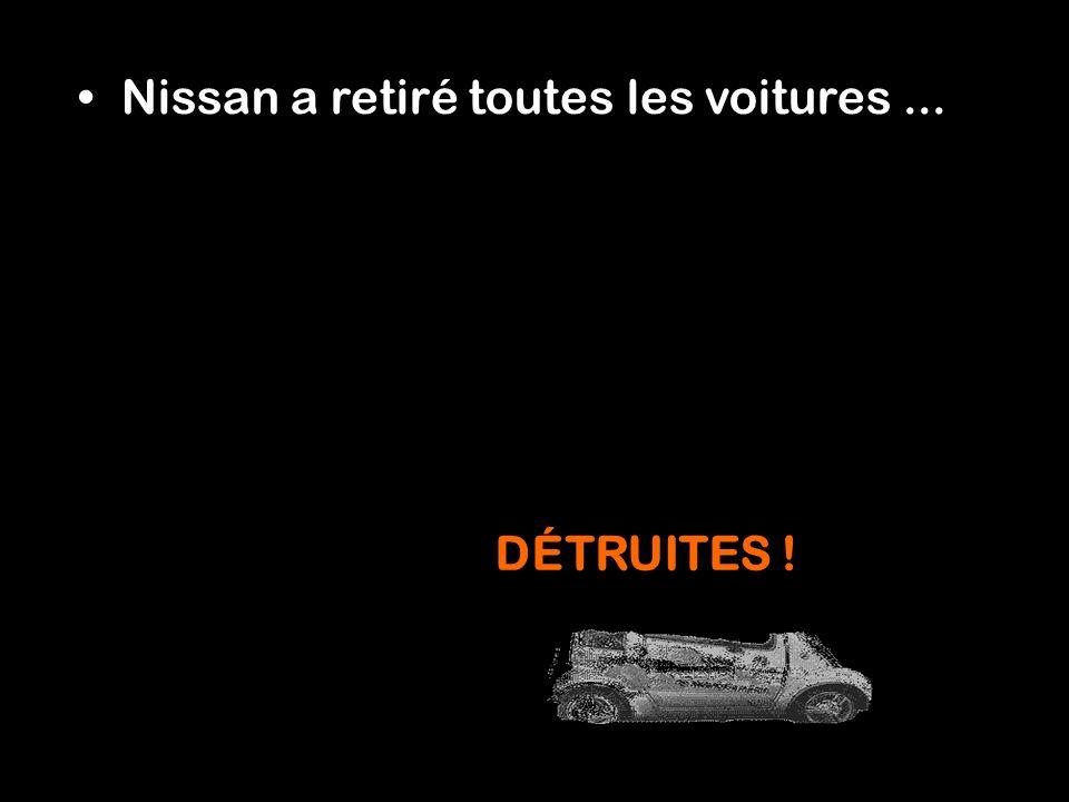 La Mairie a souhaité acheter les voitures, mais Nissan a refusé. En août 2006, le contrat de location de voitures entre la municipalité de Pasadena et