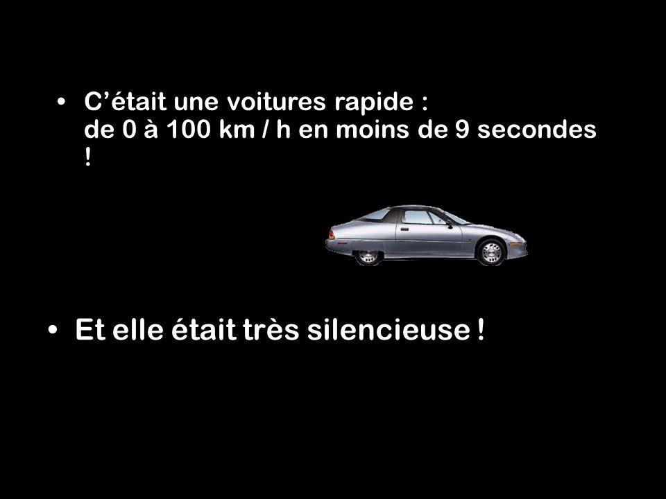 Cétait une voitures rapide : de 0 à 100 km / h en moins de 9 secondes .