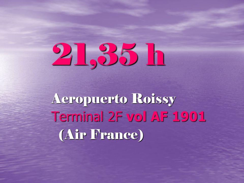 21,35 h Aeropuerto Roissy Terminal 2F vol AF 1901 (Air France) (Air France)