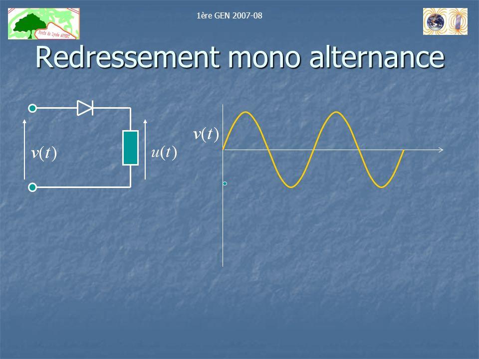 Redressement mono alternance 1ère GEN 2007-08